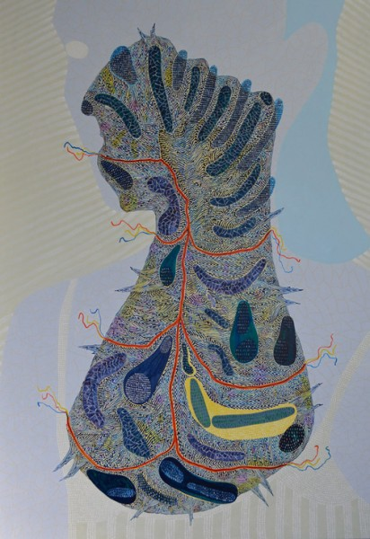 Arie Hellendoorn  Circulation Site , 2012 Acrylic on linen 1400 x 1000 mm  _______