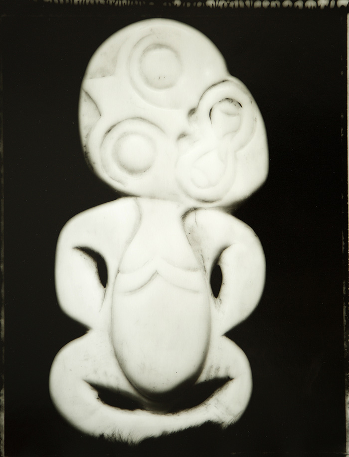 Fiona Pardington  Fake Heitiki (Scary), Otago Museum , 2007 Toned silver bromide fibre based print 600 x 500 mm Edition 2/5  _______