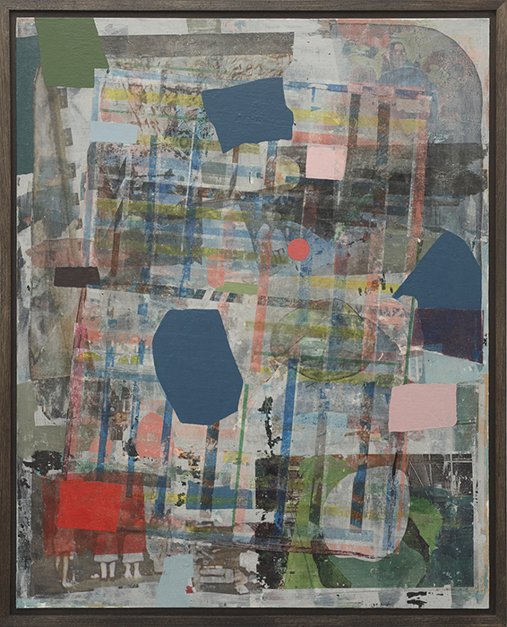 Adrienne Millwood  How I had a Vision of Lineland , 2015 Acrylic and pigment transfer on board 806 x 652 mm  _______