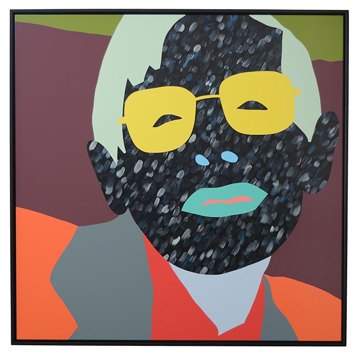 Wayne Youle  You are lucky I have idle hands , 2015 Oil and acrylic on canvas 1050 x 1050 mm [Private Collection]  _______