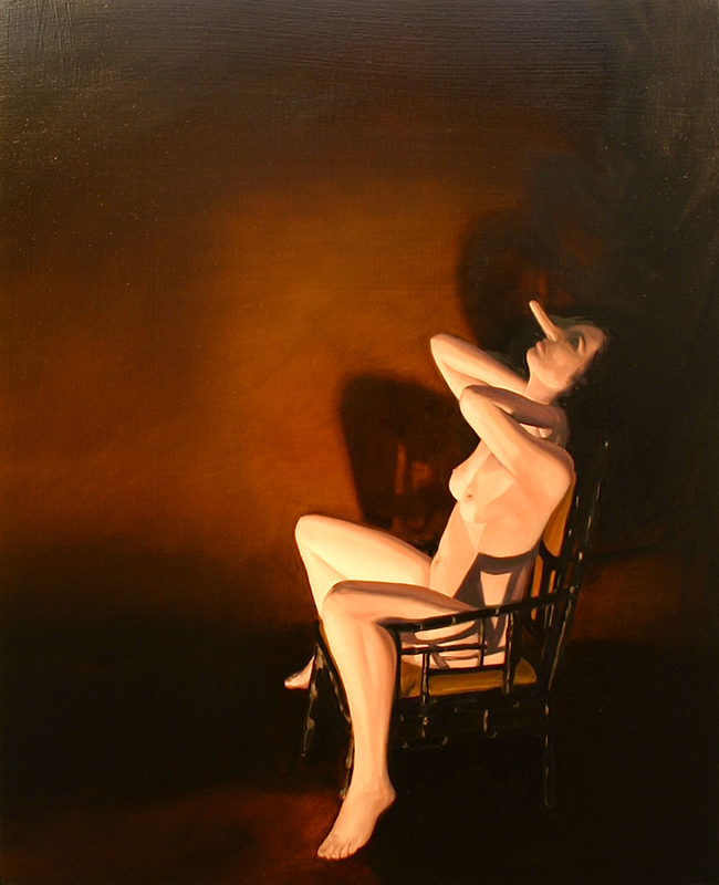 Roger Boyce  Chair , 2015 Oil on board 510 x 410 mm  _______