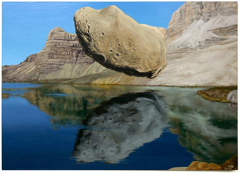 Roger Boyce  Rock to Hide My Face , 2013 Oil on board 1170 x 1650 mm  _______