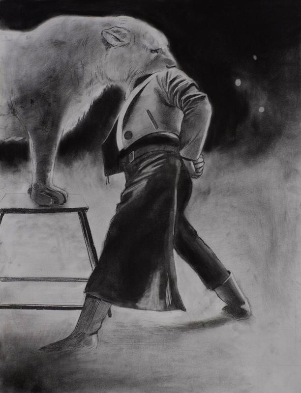 Douglas Stichbury  The Turn , 2013 Pencil on paper 420 x 600 mm   _______