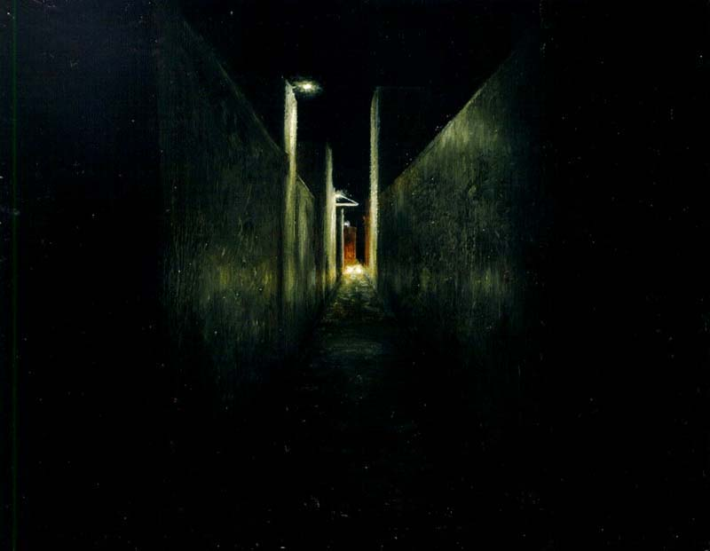 Daniel Unverricht  Alley way , 2003 Oil on canvas 120 x 120 mm [Private collection]  _______