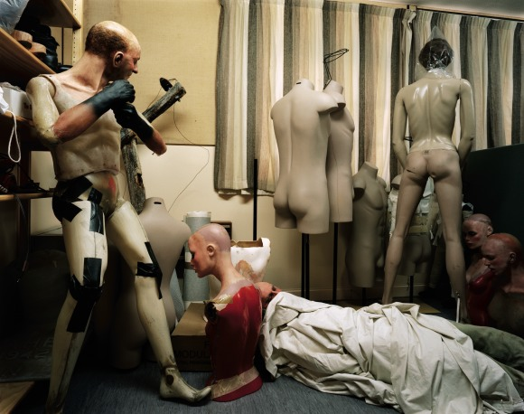 Neil Pardington  Mannequin Store #4, National Army Museum Te Mata Toa , 2008 LED / C-Print Dimensions variable Edition of 15  _______