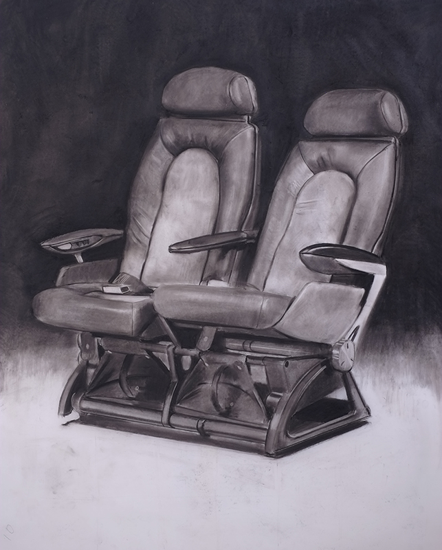 Douglas Stichbury  Concord , 2016 Framed charcoal on paper 1000 x 880 mm [Private collection]  _______