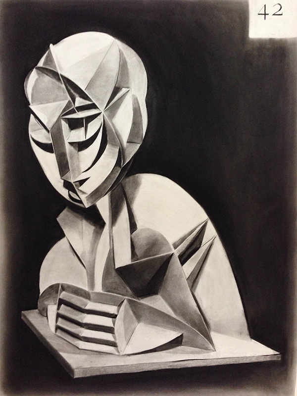 Douglas Stichbury  The Realist , 2016 Framed charcoal on paper 960 x 730 mm [Private collection]  _______