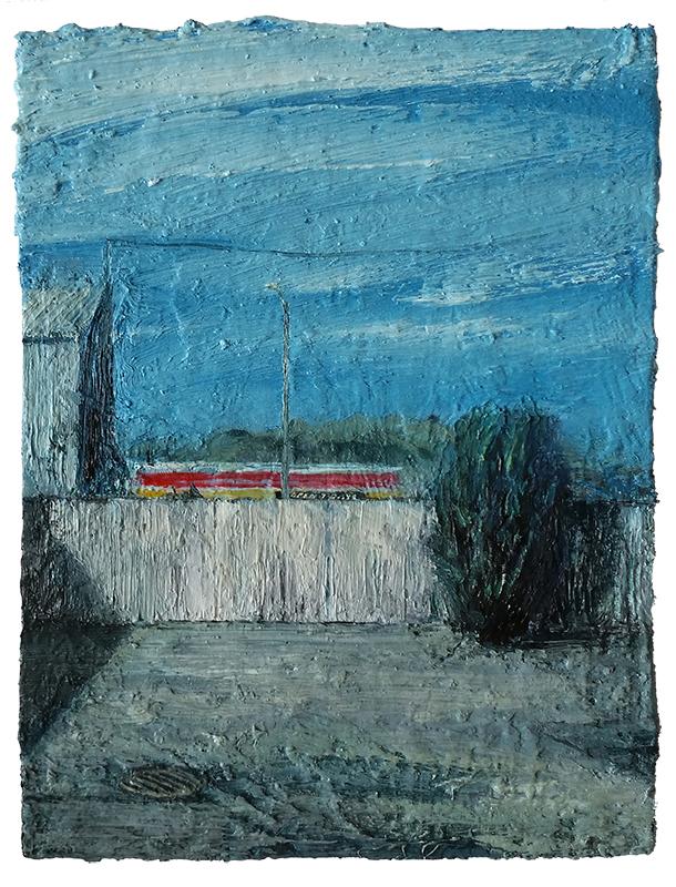 Daniel Unverricht  Autobody , 2015 Oil on panel 200 x 150 mm [Private collection]  _______