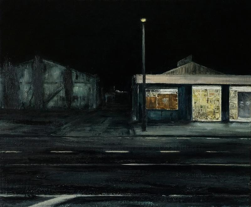 Daniel Unverricht  Half Light , 2016 Oil on linen 250 x 300 mm  _______