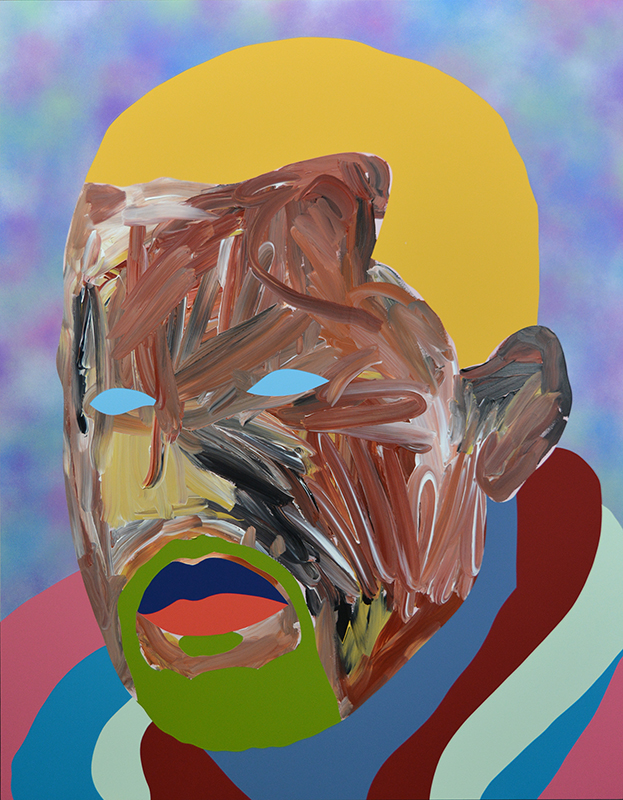 Wayne Youle  Bad Manner  s, 2016  Acrylic and enamel on board 790 x 620 mm [Private collection]  _______