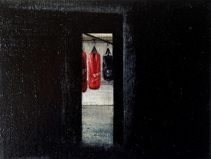 Daniel Unverricht  Drop , 2014 Oil on linen 150 x 200 mm [Private Collection]  _______