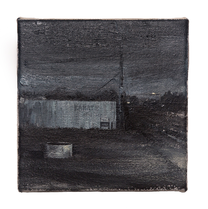 Daniel Unverricht  School , 2016 Oil on linen 150 x 150 mm [Private Collection]  _______