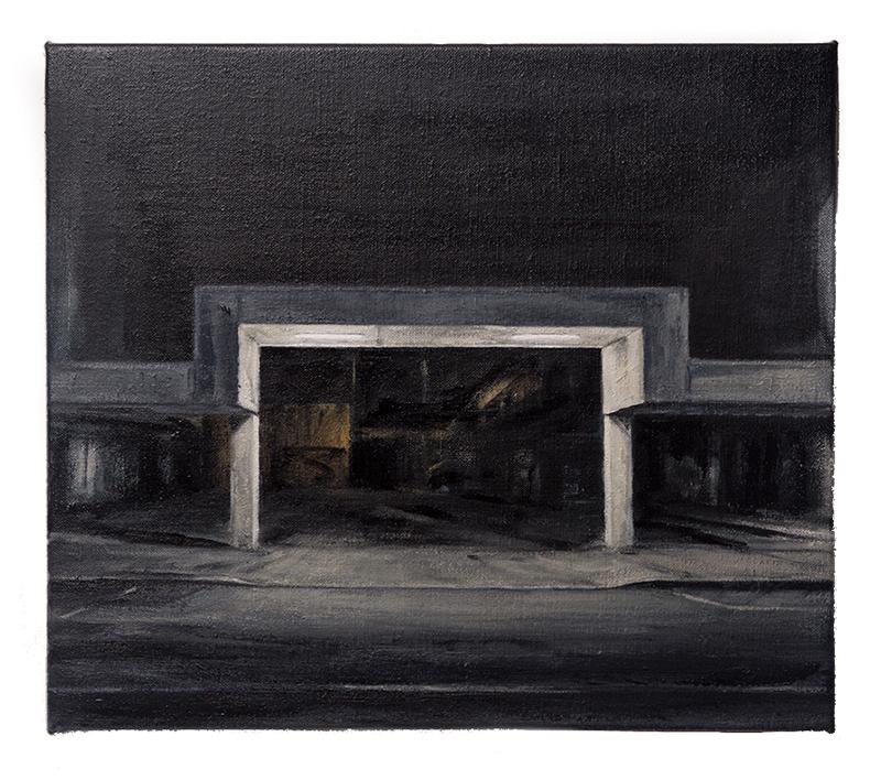Daniel Unverricht  Divider , 2016 Oil on linen 355 x 405 mm [Private Collection]  _______