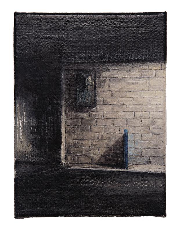 Daniel Unverricht  Sliver , 2016 Oil on linen 200 x 150 mm [Private Collection]  _______