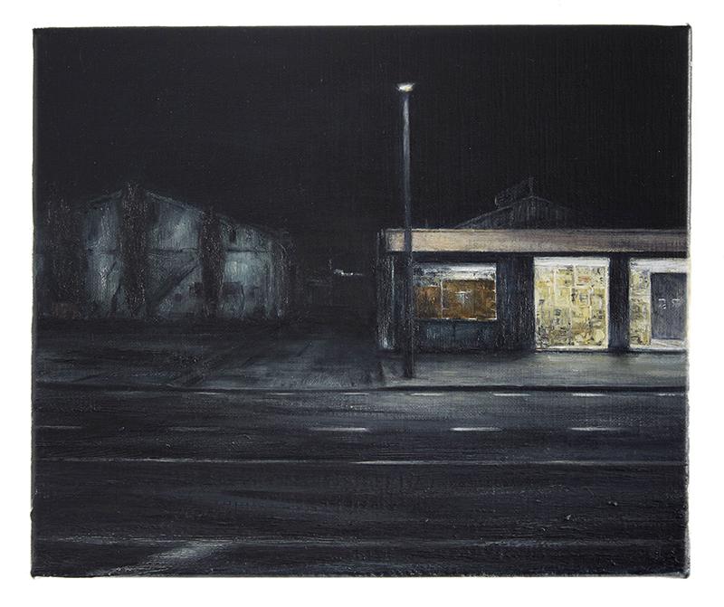 Daniel Unverricht  Half Light , 2016 Oil on linen 250 x 300 mm [Private Collection]  _______