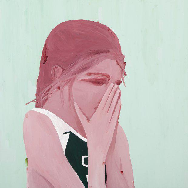 Richard Lewer  I am so sorry , 2009 Enamel on canvas 750 x 750 mm  _______