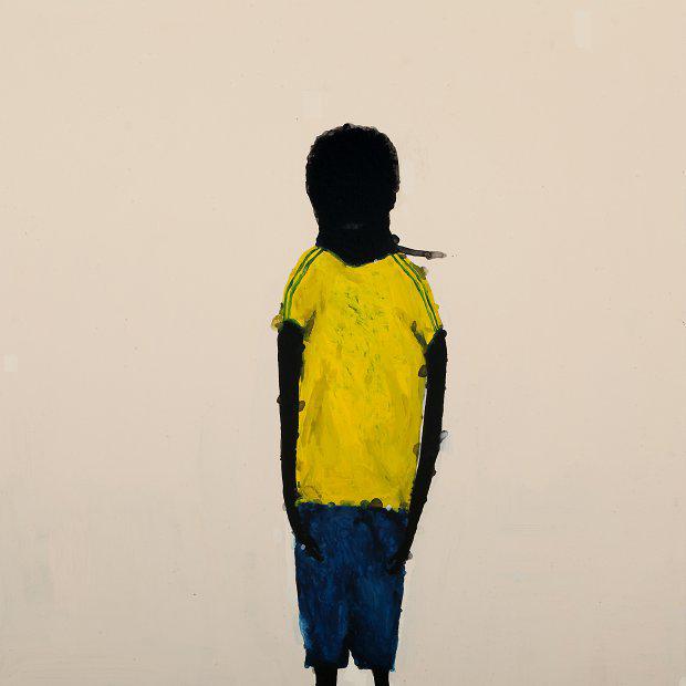 Richard Lewer  Dallas , 2009 Enamel on canvas 1100 x 1100 mm  _______