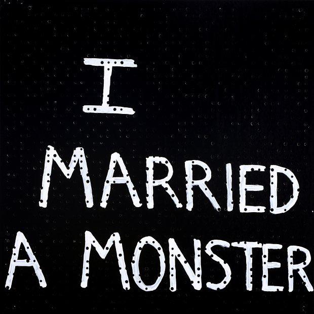 Richard Lewer  I married a monster , 2008 Enamel on acoustic board 600 x 600 mm  _______