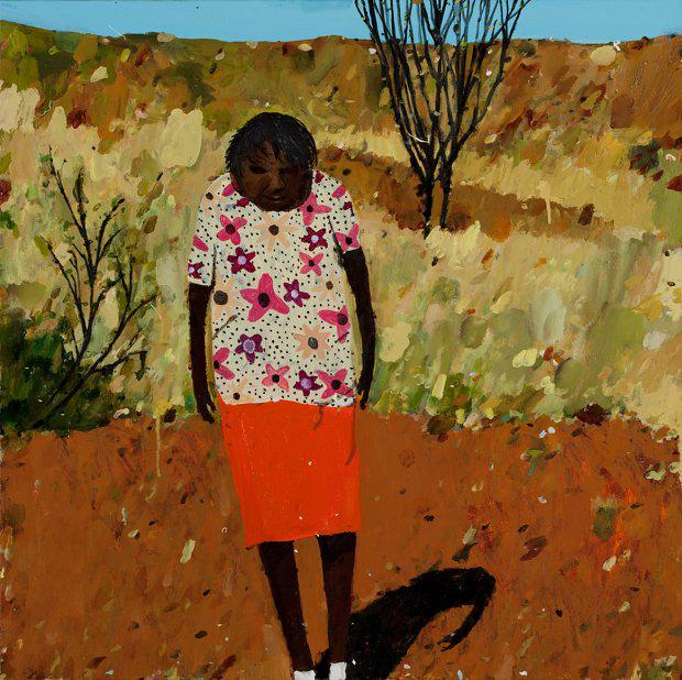 Richard Lewer  Karnu Nancy Taylor , 2015 Oil on canvas 610 x 610 mm  _______