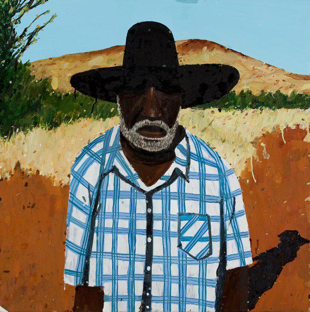 Richard Lewer  Muuki Taylor , 2015 Oil on canvas 750 x 750 mm  _______
