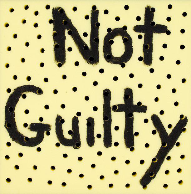 Richard Lewer  Not guilty , 2013 Acrylic on foam 500 x 500 mm  _______