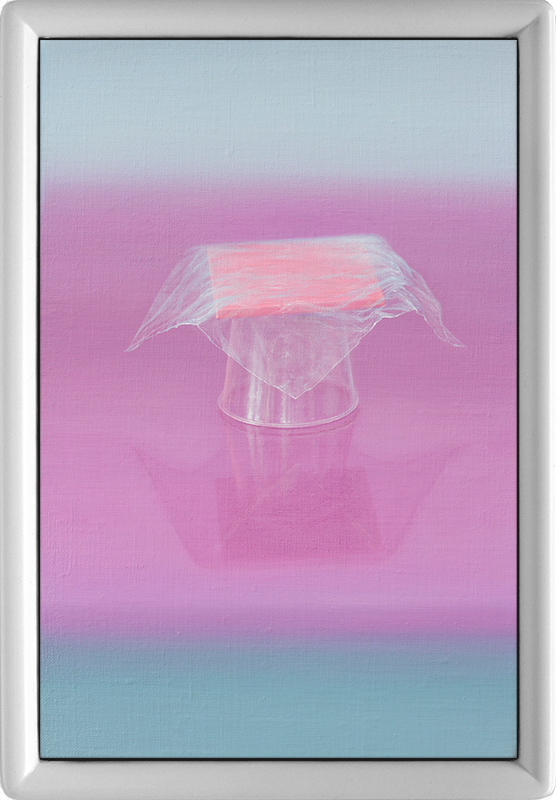Emily Hartley-Skudder  Table-Cup and Cover , 2016 Oil on linen 235 x 155 mm [Private collection]   _______