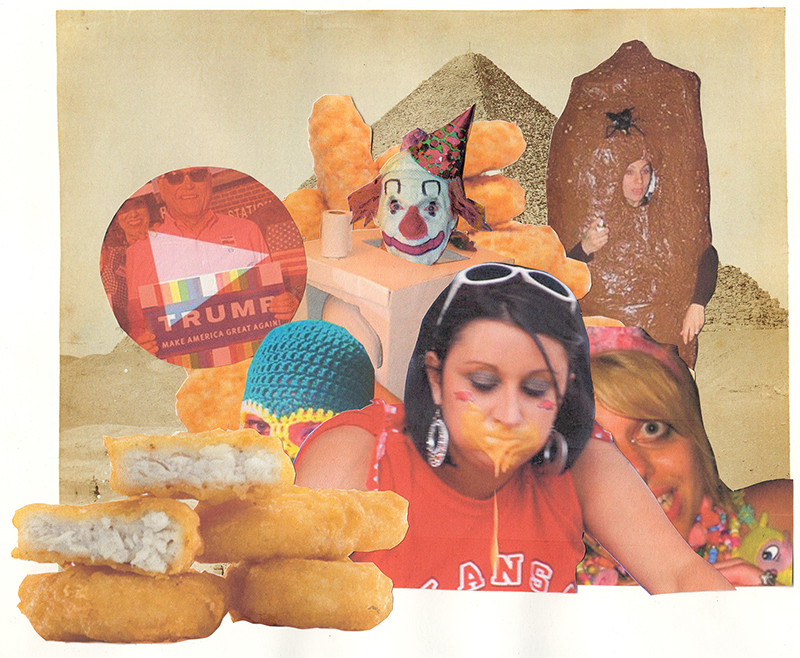 Rob Cherry  The Shit , 2017 Framed collage 210 x 250 mm  _______