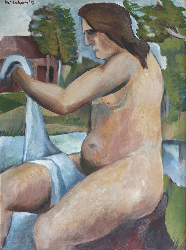 Colin McCahon  Bather , 1951 Oil on paper on board 759 x 564 mm  _______