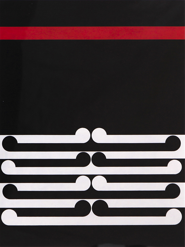 Gordon Walters  Untitled , 1978 Acrylic on paper 450 x 340 mm [Private collection]  _______