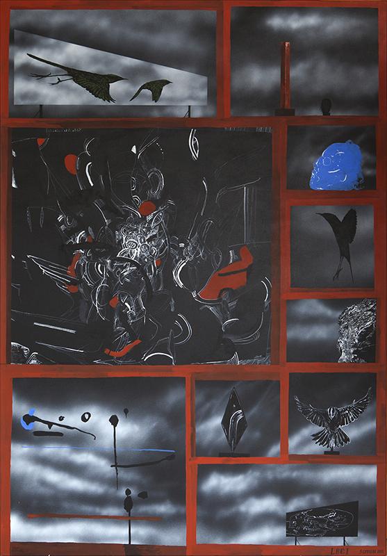 Shane Cotton  Loci , 2011 Acrylic on canvas 1520 x 1060 mm  _______