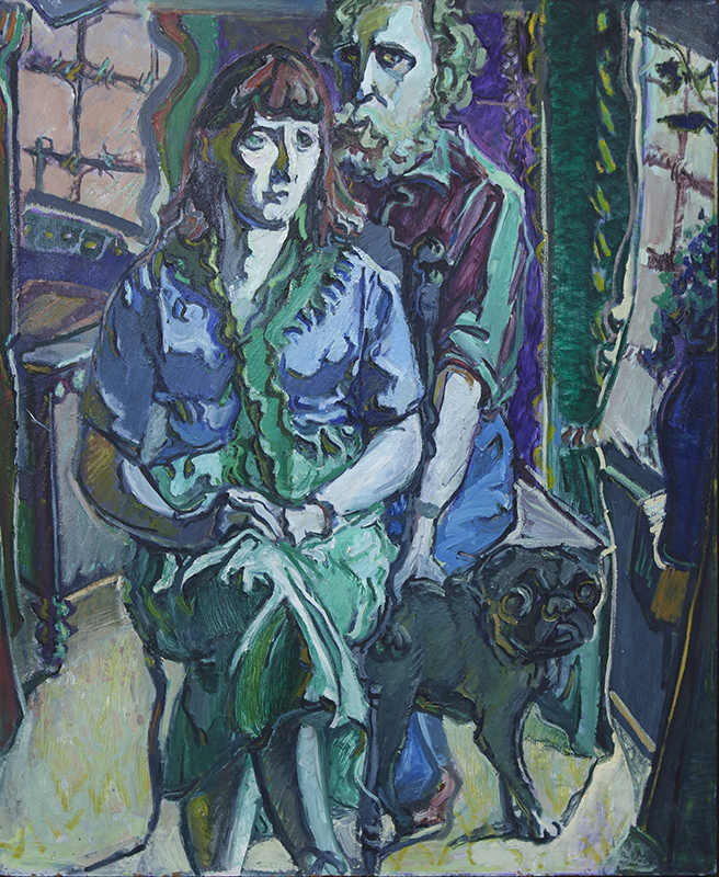 Alan Pearson  Herne Bay Couple , 1978 Oil on board 1220 x 995 mm  _______