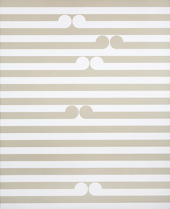 Gordon Walters  Apu , 1980 PVA and acrylic on canvas 1220 x 980 mm  _______