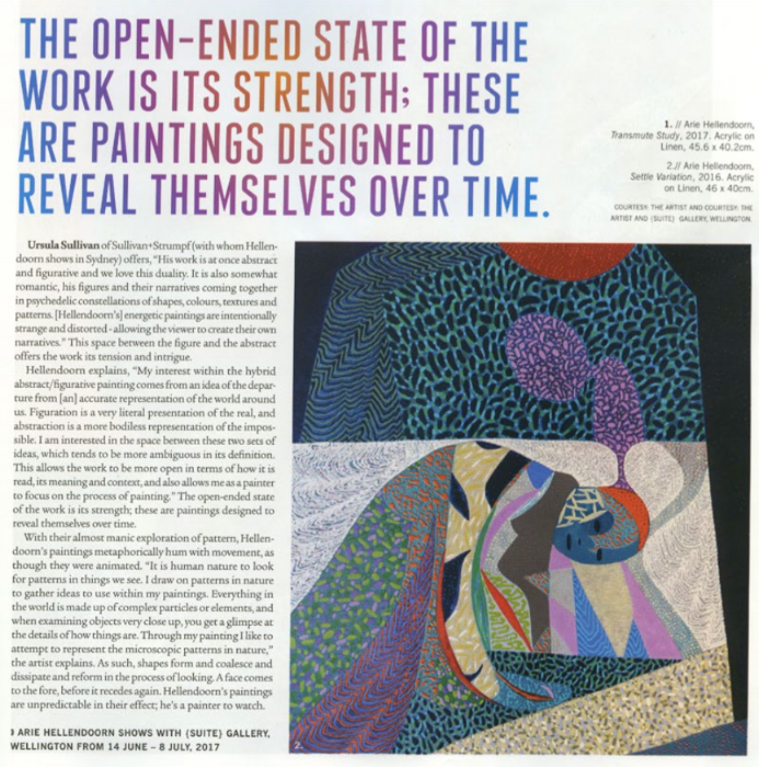 Arie Hellendoorn featured in Art Collector Issue 80