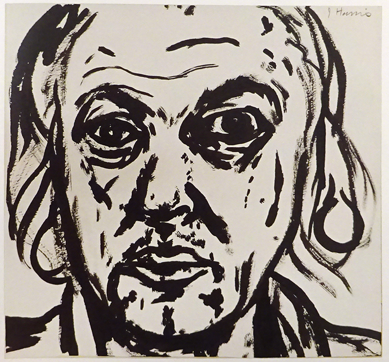 Jeffrey Harris  Self-portrait,  2002 Ink on paper 184 x 192 mm [Harris Smith Art Collection]  _______