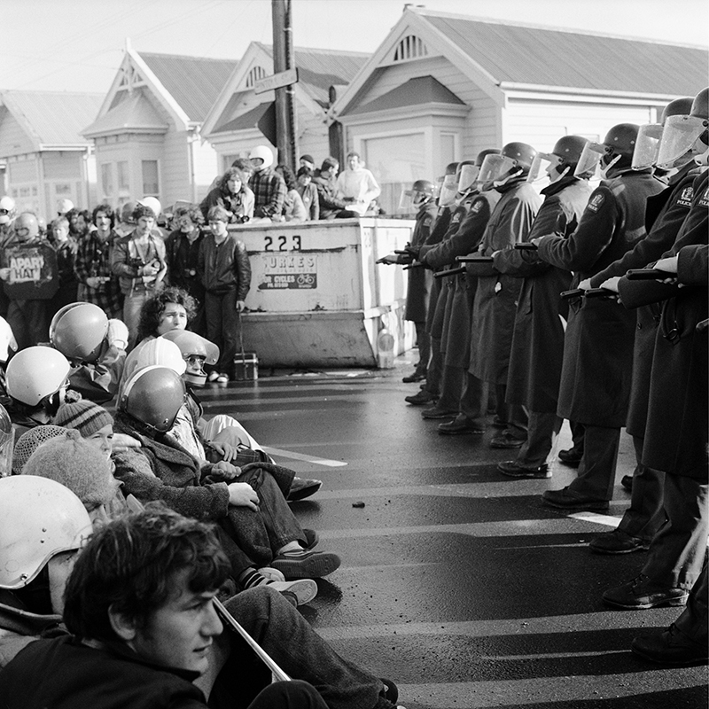 Ans Westra  Springbok Protest, Newtown , 1981 Pigment print on Hahnemuhle Photo Rag 380 x 380 mm Edition of 25 $1,800 incl. GST unframed, $2,150 incl. GST framed  ______