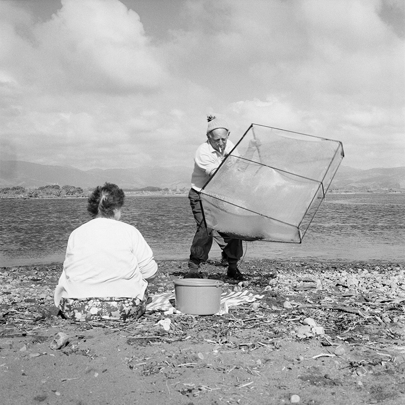 Ans Westra  Whitebaiting, Otaki , 1971 Pigment print on Hahnemuhle Photo Rag 380 x 380 mm Edition of 25 $1,800 incl. GST unframed, $2,150 incl. GST framed  ______