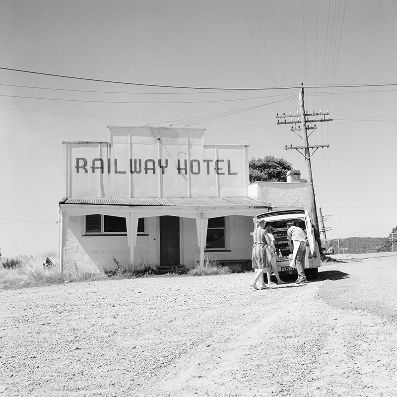 Ans Westra  Railway Hotel, West Coast , 1971 Pigment print on Hahnemuhle Photo Rag 380 x 380 mm Edition of 25 $1,800 incl. GST unframed, $2,150 incl. GST framed  ______