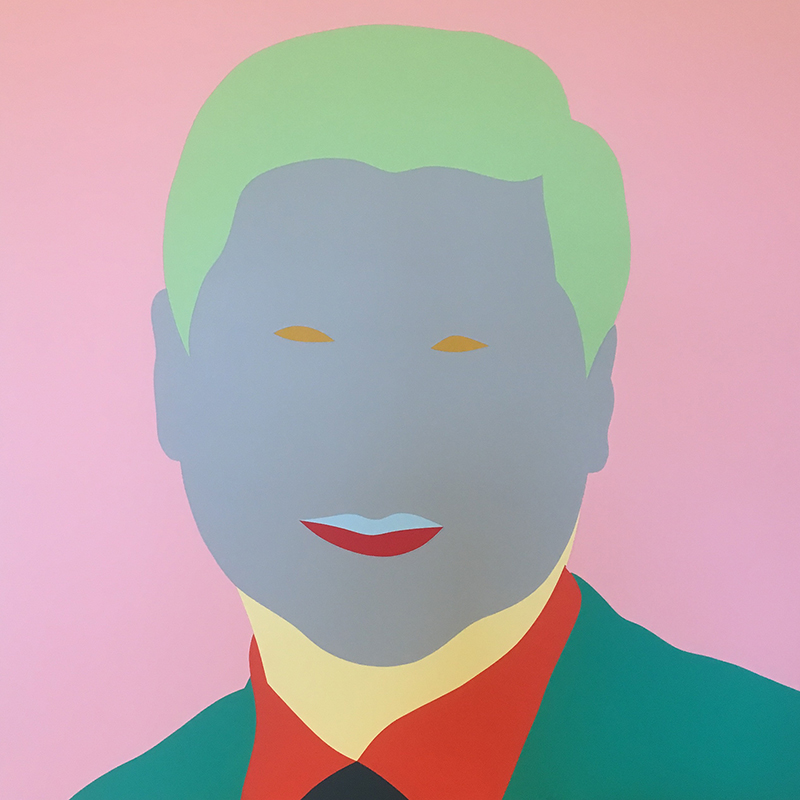 Wayne Youle  Big Daddy , 2017 Acrylic on board 640 x 640 mm [Xi Jinping] [Private Collection]   _______