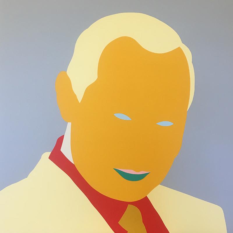 Wayne Youle  Platov (after Matvei) , 2017 Acrylic on board 640 x 640 mm [Vladimir Putin] [Private Collection]  _______