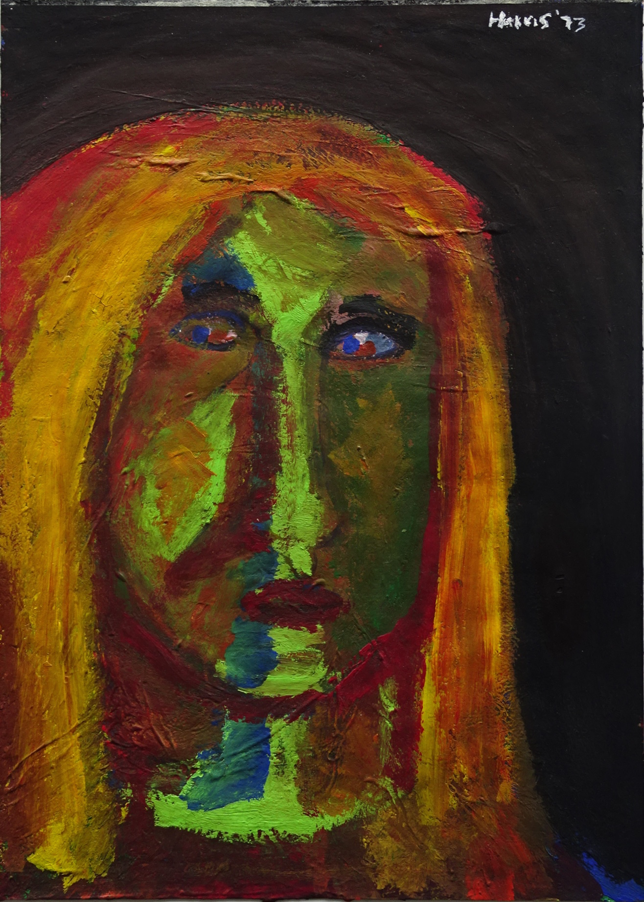 Jeffrey Harris  Untitled portrait , 1973 Gouache on paper 355 x 255 mm [Private collection]  ______