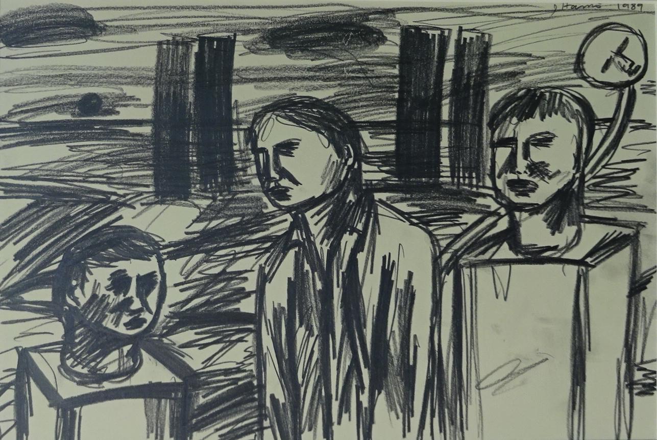 Jeffrey Harris  Untitled , 1989 Pencil on paper 250 x 370 mm  ______