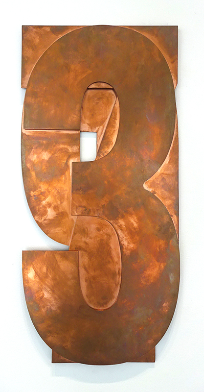 Anton Parsons  1973 , 2018 Copper 495 x 225 mm  _______