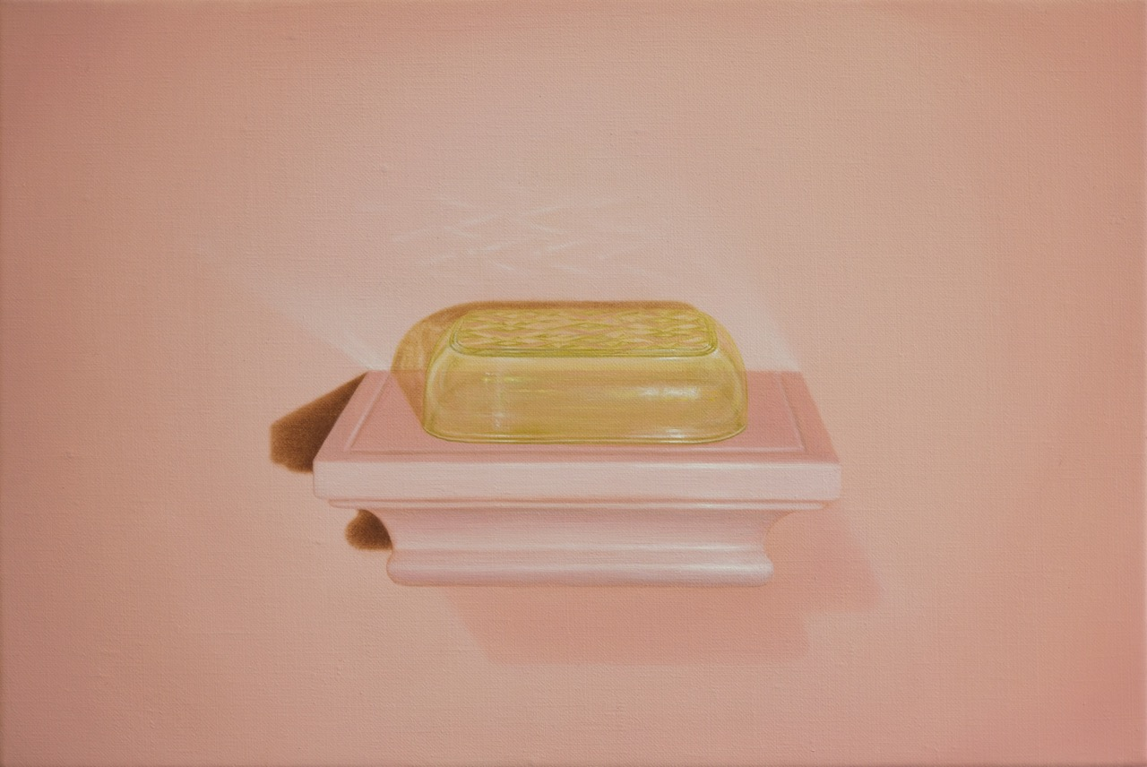 Emily Hartley-Skudder Coral Blush Wall Shelf,  2017 Oil on linen 227 x 337 mm [Private collection]  ______