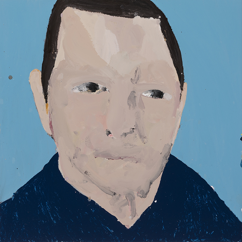 Richard Lewer  Dave,  2017 Enamel on oil primed canvas 720 x 720 mm [Private collection]  ______