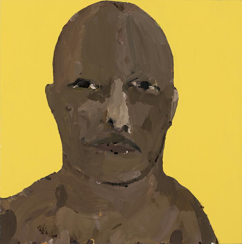 Richard Lewer  Ben , 2017 Enamel on oil primed canvas 720 x 720 mm  _______