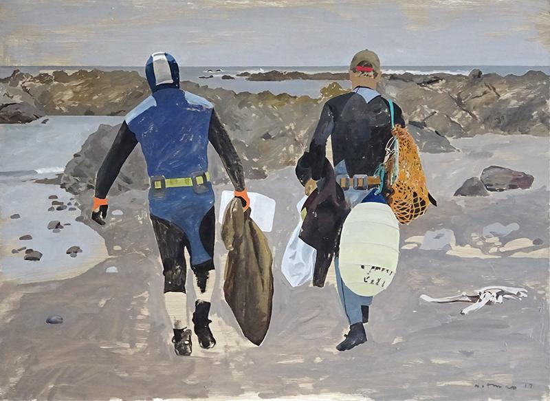 Geoffrey Notman  Tarakiwa Bay , 2017 Oil on board 720 x 1000 mm [Private collection]  _______