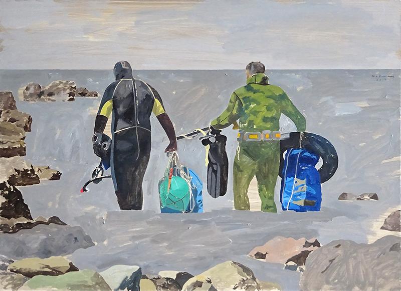 Geoffrey Notman  Waitaha Cove , 2017 Oil on board 720 x 1000 mm $5,000 incl. GST  _______