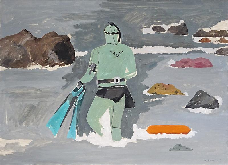 Geoffrey Notman  Sharkstooth , 2017 Oil on board 720 x 1000 mm $5,000 incl. GST  _______