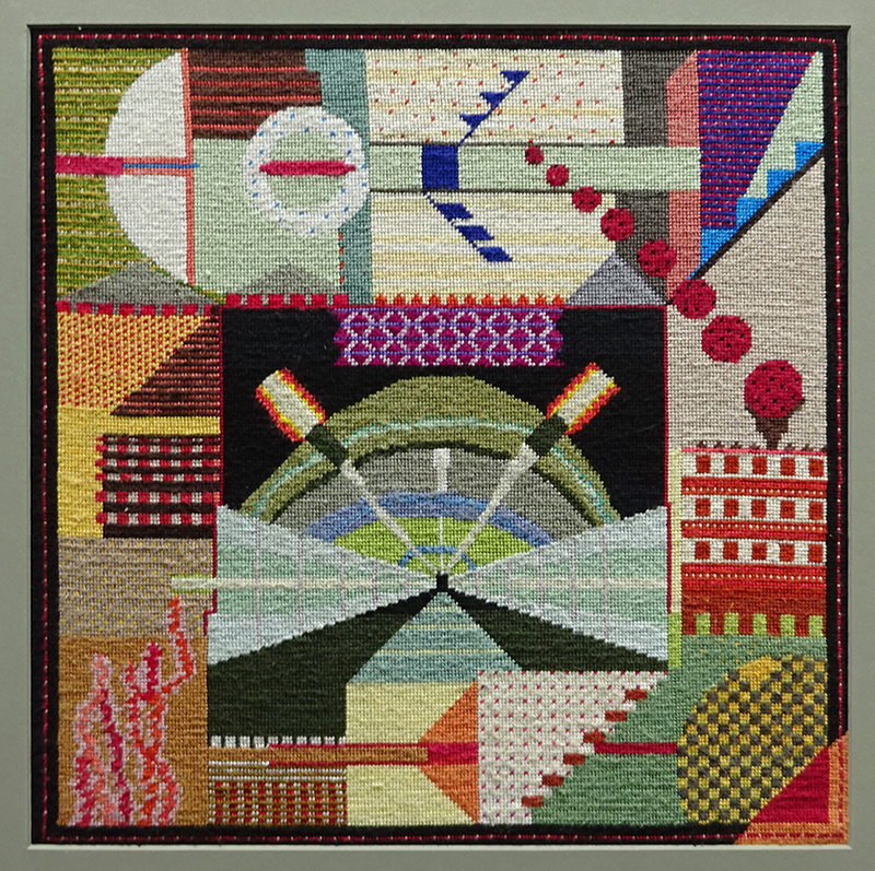 Katy Corner  Undertow , 2008 Framed tapestry 326 x 322 mm [Corner Family Collection]  _______