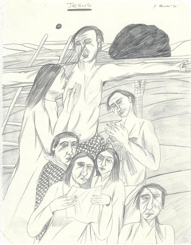 Jeffrey Harris  Jesus , 1971 Pencil on paper 255 x 205 mm  ______